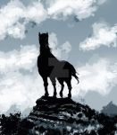 Samurai_Horse_blue by DRAWBAK