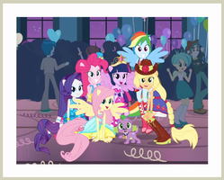 RENDER - MLP EQ Fall Formal Group Photo by Jailboticus