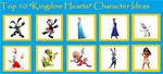 My Top 10 Kingdom Hearts Character Ideas by MarcosPower1996