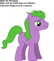 Spike the Werepony by dlazerous