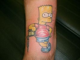 Bart Simpson Tattoo by hollandvanlin