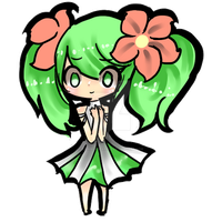 Shaymin Gijinka Chibi by rainbowsparklz