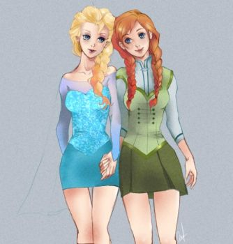 Frozen sisters by kaiseiyuubi