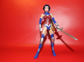 Wonder Woman Justice League War Figure Custom by Chalana87