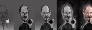 Steve jobs Painting Process by lepeART