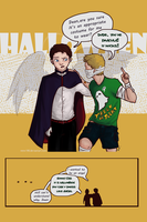 Happy Halloween 2014! (with Dean and Castiel) by ThetarielWhitesinger