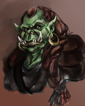 Warmup - Orc Matron by hyperpiston