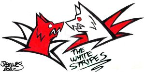 The White Stripes by XBlackFerretX