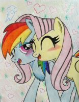 Flutterdash: Nuzzles by XquiizitGam3r