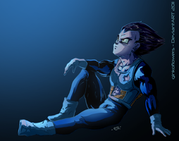 Vegeta - Stargazing by ginkoflowers