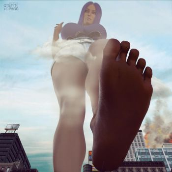 Attack Of The 50 Ft. Foot | Mega Giantess by GTSXotwoD