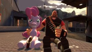 Pinkie n Heavy by JackAxeWell