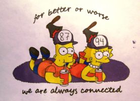 Bart and Lisa by kellycandle