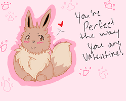 Valentine: Eevee by RainTheNeko