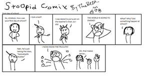 Stoopid comix 1st day of skool by TheReza13