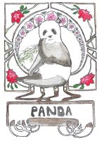 Art Nouveau Panda by Goats-On-A-Boat