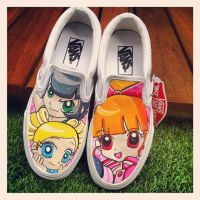 Powerpuff girls Z Vans by VeryBadThing