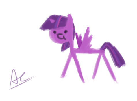 Quick painting of Twilight by AC-whiteraven