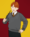 Line Art: Ron Weasley by Tullerusk