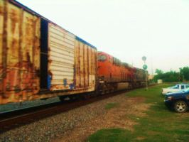 SP and BNSF by SwiftWindSpirit