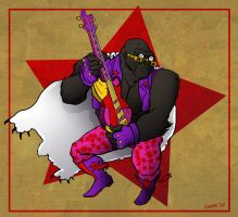 Commission: Glam Rock Gorilla by anoneemoose