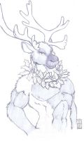Reindeer Guy by RickGriffin