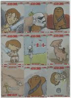 TOPPS Star Wars cards, pt. 5 by katiecandraw