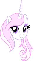 Pretty Pink Unicorn (Vectorized) by Ambassad0r