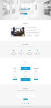 Catalyst - Free Multipurpose HTML5 Template by templatewire