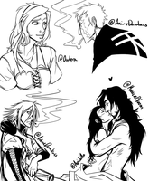 Today's sketches by AnimeDumbass