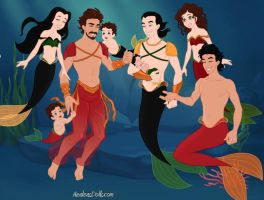 Royal Ironfrost Mermaid Family -Loki male version by neniths