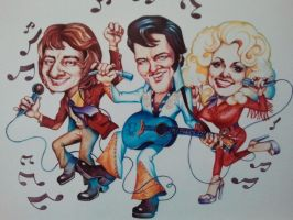 Barry, Elvis, and Dolly by casey62