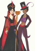 Evil Jasmine and Tiana by chelleface90