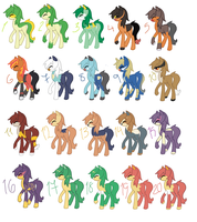 Pokepony Adopts by PrettyLittleAdopts