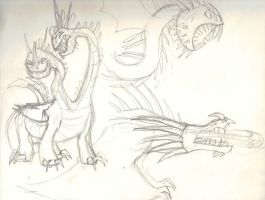 Httyd dragon sketches  by xXEnderDogXx