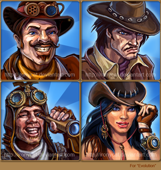 cowboys characters by ironycat