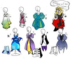 Dresses by StickyEvil