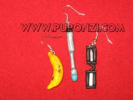 Tenth Doctor earrings_set by StregattaPuponzi