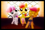 Cutie Mark Crusaders Soda Drinkers! by porkchopsammie