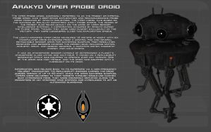 Arakyd Viper Probe Droid tech readout [New] by unusualsuspex