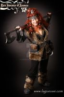 female dwarf leather armor cosplay by Lagueuse
