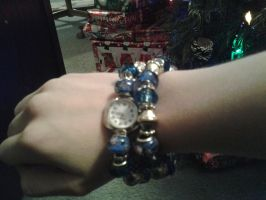 My new Christmas eve watch and bracelet by akeena7