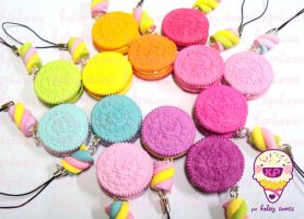 rainbow oreos OuO by KPcharms