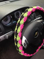 Crochet Steering Wheel Cover by alillama88