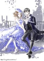 Nannerl and Salieri by MaryIL