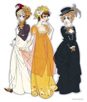 1800's Dresses by Seitou
