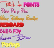 Pack de Fonts by AnnitaCereziiitaa