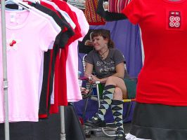 Woman with Argyle Stockings by isha-1
