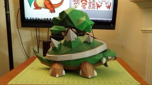Pokemon Torterra Papercraft 2 by devastator006