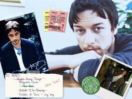 McAvoy Scrapbook-y Wallpaper by gracefulally